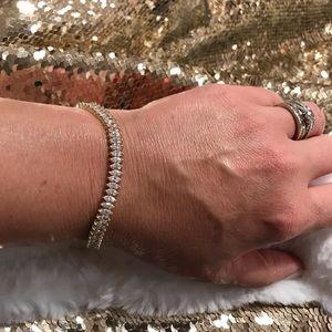 "Jewelry - 🦋Tennis Bracelet 925 70 CZ Marquis Stones 😍7.5"""